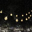 Lampki Solarne Ogrodowe Żarówka Lampa 50 LED 9.5 M Średnica kuli 2 cm