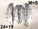 Nakładki 3D na zaciski hamulce BREMBO ABS srebrne