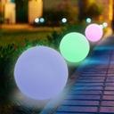 LAMPA KULA OGRODOWA LED SOLARNA RGB 30cm PILOT Kolor biały