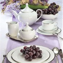 VILLA ITALIA HATTY PLATIN Serwis obiadowy + kawowy