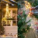 200 LED Girlandy Lampki Ogrodowe Solarne Wysoki 2m Zasilanie bateryjne solarne