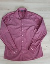 Koszula LIVERGY 41/16 L długi rękaw bordowa