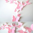 MOTYLE naklejki 3D na ścianę JEDNOKOLOROWE +GRATIS EAN 5904582131402