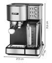 Ciśnieniowy Ekspres do kawy AUTOMATYCZNY Yoer INOX Moc 1350 W