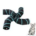 Składany tunel dla kota Zabawka dla kota w tunelu Waga produktu z opakowaniem jednostkowym 0.51 kg