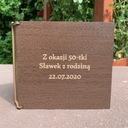 Personalizowany box/futerał na dowolny prezent Kolor brązowy