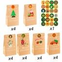 24 szt Boże Narodzenie KALENDARZ ADWENTOWY Kraft z EAN 579268618284