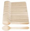 Ложки деревянные одноразовые ЭКО столовые приборы 100 штук