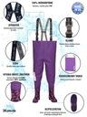Spodniobuty dziecięce WODERY kalosze SERCA r. 27 Kolor fioletowy