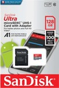 ADAPTER SANDISK ULTRA MICRO SD SDXC 128GB 100 MB/S