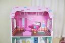 Wysoki drewniany domek dla lalek + mebelki ECOTOYS Szerokość produktu 48 cm