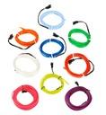 2М Волоконно-оптический кабель EL Wire Лента Ambient ремень Как Светодиодные лампы