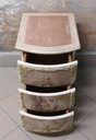 Komoda z szufladami antyczne malatury Jej portret Kolor mebla beżowy