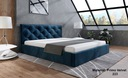 Łóżko Tapicerowane Stelaż 180 pojemnik BOB LIMA 4 Kolor mebla Niebieski