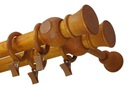Karnisz drewniany fi 28 BRĄZ WENGE podwójny 2,2 m Rodzaj karnisza Podwójne