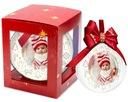 Bombka ze zdjęciem prezent RED pudełko ŚWIĘTA 12cm