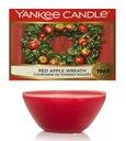 Pachnący świąteczny wosk Yankee Red Apple Wreath Czas palenia Do 10h