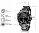 NAVIFORCE Zegarek męski bransoleta - 6 kolorów Wodoszczelność 50m = WR50
