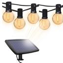 Girlandy Lampki Solarna żarówką Ogrodowa 10 LED Zasilanie solarne