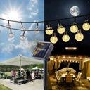 Lampki Solarne Ogrodowe Żarówka Lampa 100 LED 12 M Zasilanie solarne