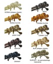 Karnisz drewniany fi 28 BRĄZ WENGE podwójny 2,2 m Kolor Biały Odcienie brązu Inny kolor