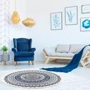 Okrągły dywan w etniczne wzory z frędzlami 90 cm Kod producenta P0015