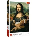 2x Puzzle 500el Mona Lisa i Kot + Angielski na wsi