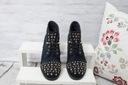 Granatowe botki zdobione Shoe Size 40 Kolor Granat Marka inna