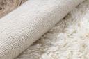 FLOKATI wełniane białe/krem 130x150 cm #FL001 Wzór jednobarwny