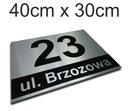 Доска адресная табличка Алюминий 40x30cm