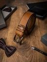 Badura brązowy pasek skórzany do spodni dla niego EAN 5903051038952