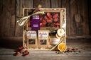 Корзина с подарками, чаем и шоколадом подарок GT