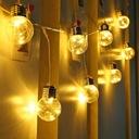 Girlandy Lampki Ogrodowe Solarne 10 Żarówki 2.5M Barwa światła ciepła biała