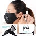 KOMPLET Maska+ 3x FILTR HEPA PM2.5 WĘGIEL FFP2 N95 Liczba zaworów 1
