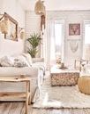 FLOKATI wełniane białe/krem 190x230 cm #FL007 Kolor biały kremowy