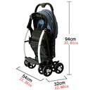 Wózek spacerówka podwójna bliźniak Kod producenta 6946525616156