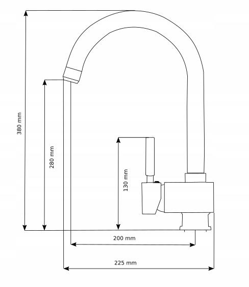 Bateria kuchenna Alveo rysunek techniczny