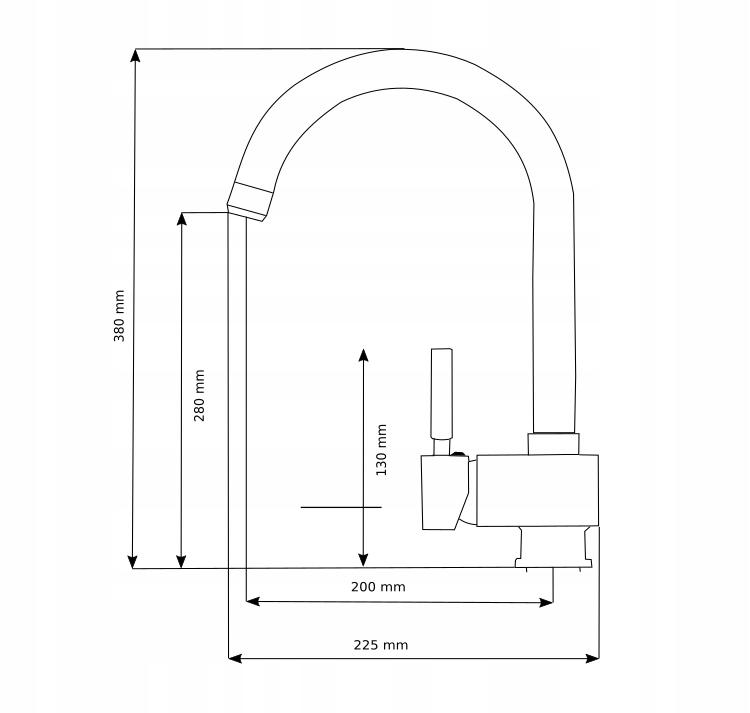 Bateria kuchenna Alveo - rysunek techniczny