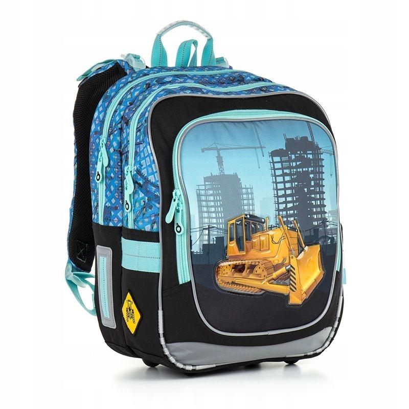809177187f106 Dwukomorowy plecak szkolny Topgal koparka CHI 877 7497249070 - Allegro.pl