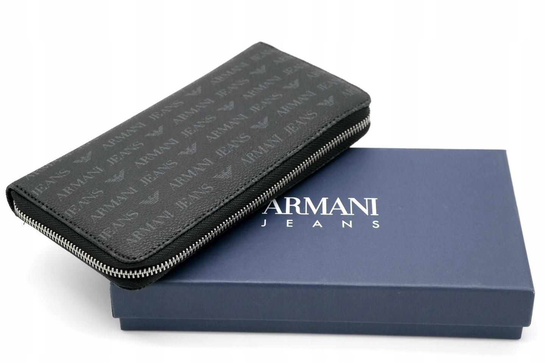 4656ee2a22cda ... Portfel sygnowany napisami ARMANI JEANS oraz logo  Zapakowany w  oryginalne pudełko  Idealny na prezent