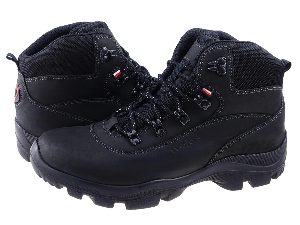 b0d709930ae9 Wysokie obuwie trekkingowe polskiej marki Wojas 9378-91 w kolorze czarnym.  Oryginalne