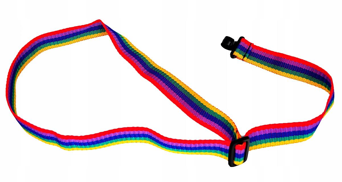 a52aa887bd1298 Pasek do ukulele PRESTO PKU RAINBOW - krawat z regulowaną długością w  kolorach tęczy