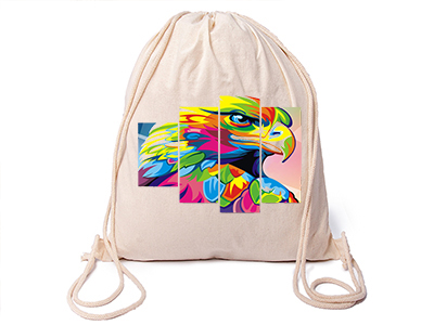 6ebc184b36da0 Worek plecak z Twoim nadrukiem , logo bawełniany 6842482126 - Allegro.pl
