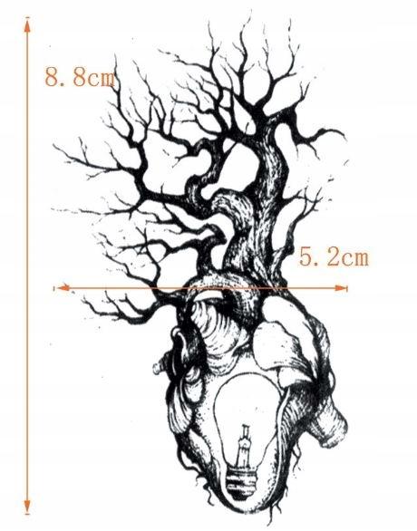 Serce Drzewa Tatuaż Tymczasowy Z Drzewem życia 100