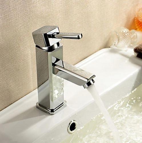 Bateria umywalkowa chromowana Vigo Cubic na umywalce z boku