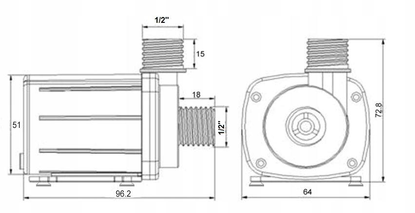 pompa pompka do wody cieczy 1500l  h 12v arduino 7827826719