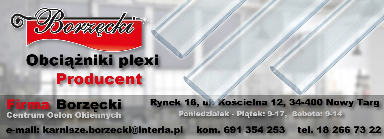 Obciążnik Plexi Pleksi Do Paneli Rolet Firan 100cm