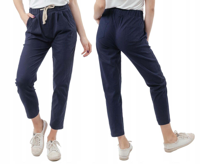 0eaa472e7ec77a Cienkie, zwiewne spodnie damskie bawełniane z prostą nogawką na wiosnę,  lato.