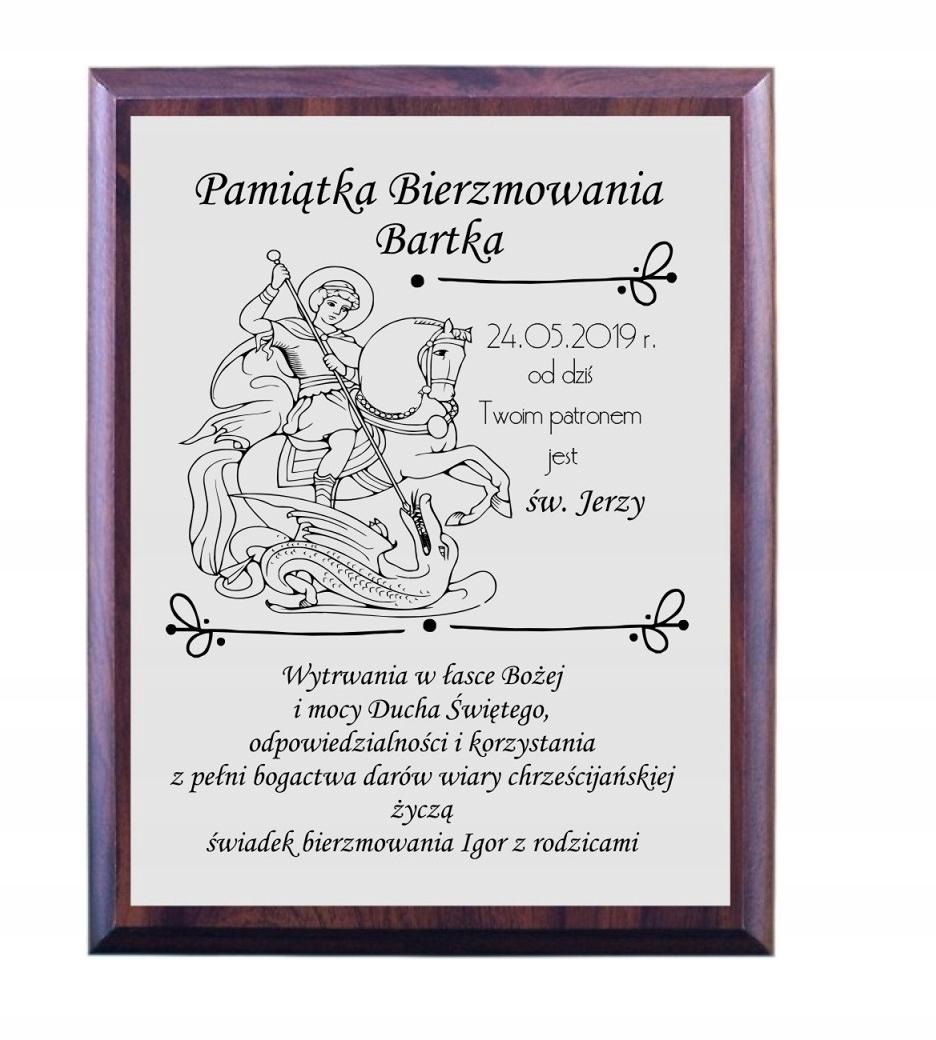 6f4d559fa9cdaf Dyplom BIERZMOWANIE pamiątka św. Jerzy obrazek 7821797482 - Allegro.pl