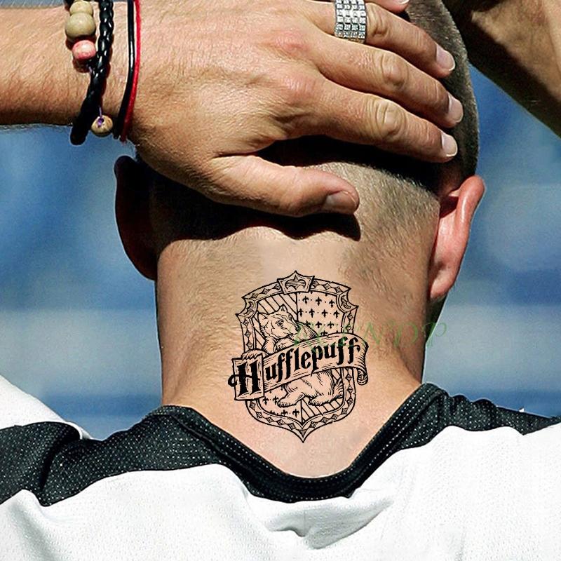 Tatuaż Harry Potter Hufflepuff Duży Hogwart Pl